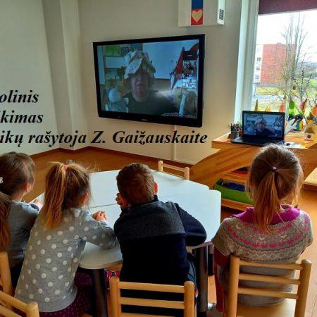 """Susitikimas su vaikų rašytoja Z. Gaižauskaite """"Prakalbinki gražia šneka"""""""